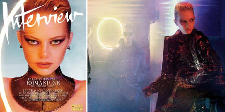 Emma Stone als Techno-Girl für Interview Magazine