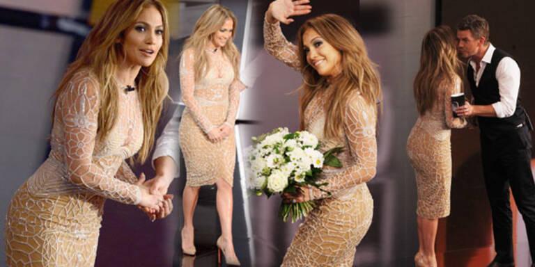 Jennifer Lopez funkelt mit Karl um die Wette
