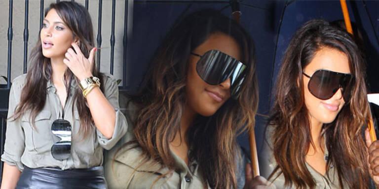 Ein Visier als Brille für Kim Kardashian
