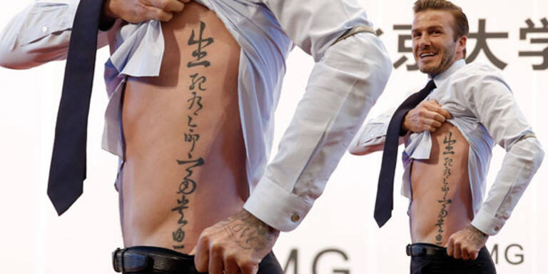 David Beckham enthüllt sein neues Tattoo