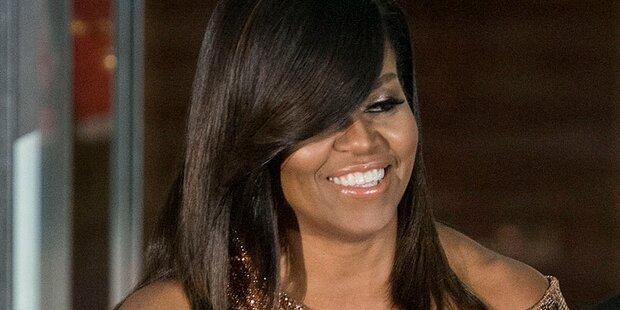 Michelle Obamas sorgte mit Glam-Outfit für Begeisterung