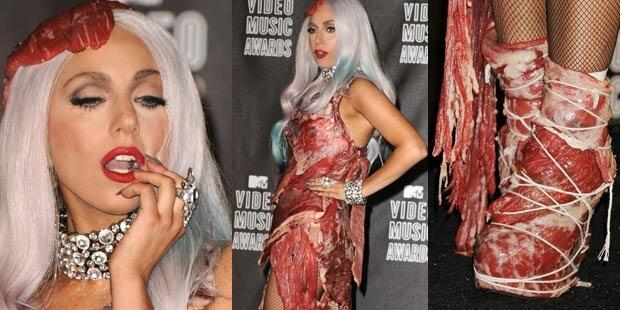 Gaga-Designer: Das Fleischkleid war echt