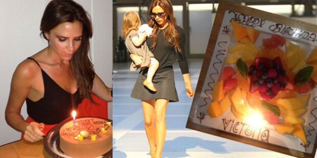 Victoria Beckham: Hurra, heuer gab's Torte!