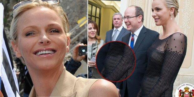 Fürstin Charlène: Ist das ein Babybauch?
