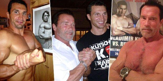 Arnie & Klitschko: Oben-ohne-Vergleich