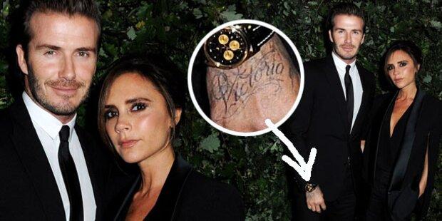 David Beckham zeigt neues Victoria-Tattoo