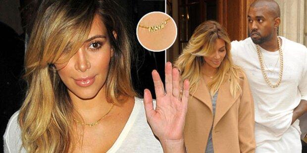 Kim Kardashian trägt Nori um den Hals