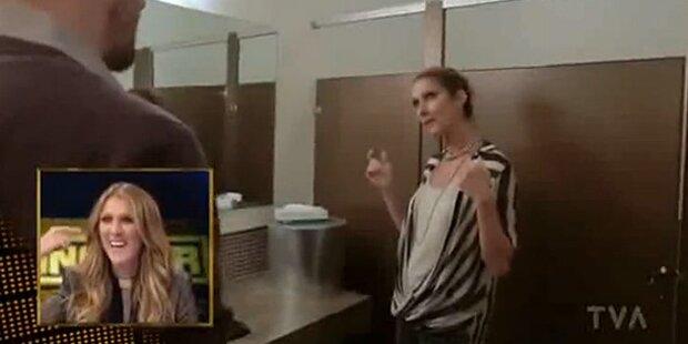 Celine Dion beim Singen am WC gefilmt