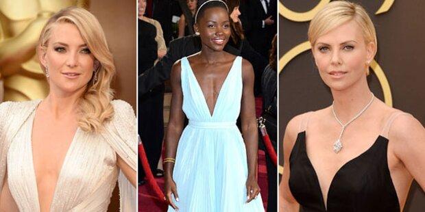 Oscars 2014: Star-Ladys im Dekolleté-Duell
