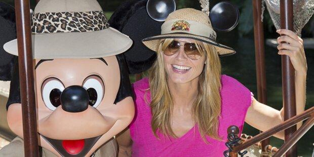 Heidi Klum mit Seal in Disneyland