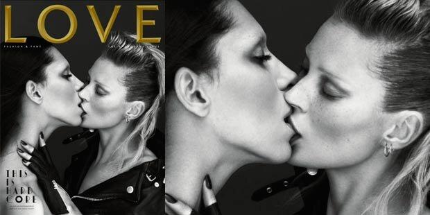 Love: Kate Moss küsst transsexuelles Model