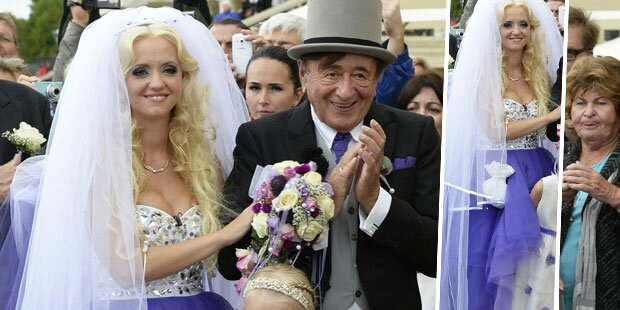 Brautkleid: Warum trug Spatzi lila?