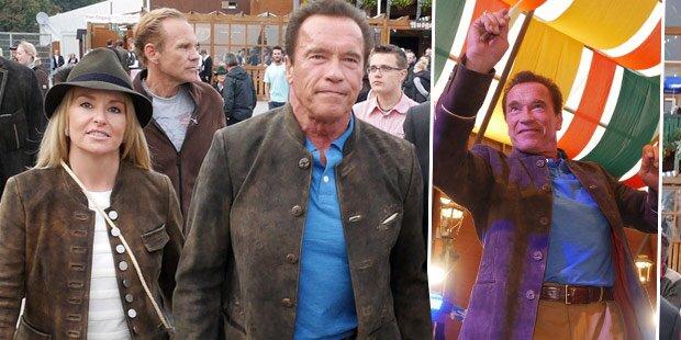 Arnie lässt's auf der Wiesn krachen