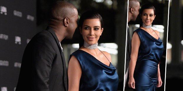 Kim Kardashian, ist das ein Babybauch?