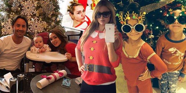 Weihnachten: So feierten die Stars