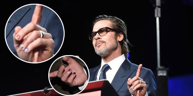 Brad Pitt trägt jetzt Nagellack