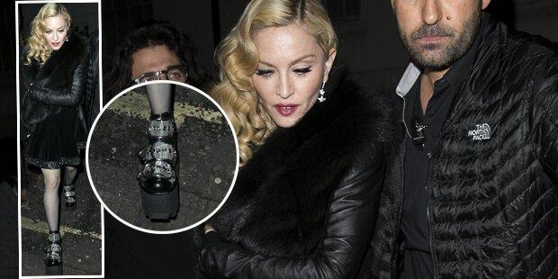 Madonna steht wieder - auf Plateau