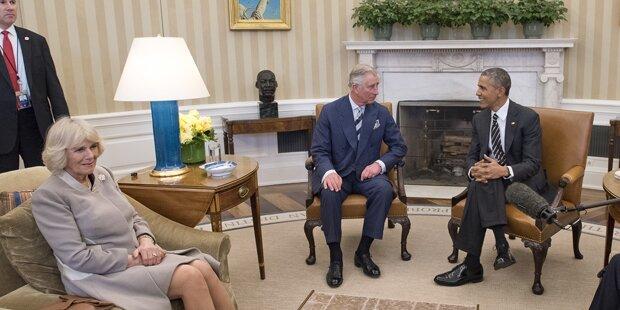 Charles und Camilla besuchten Obama