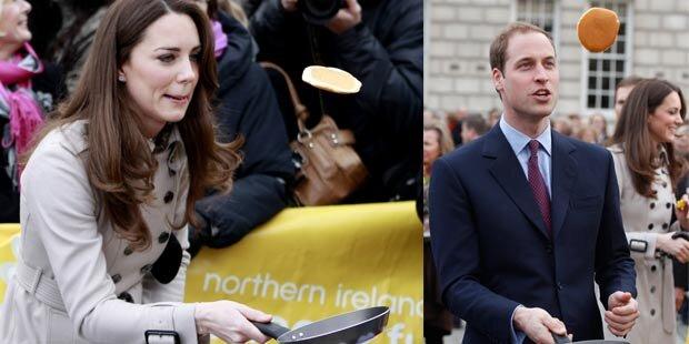 Kate und William als Palatschinken-Profis