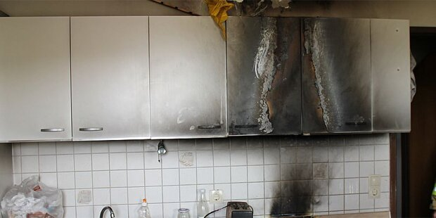 Vergessenes Öl in der Pfanne löste Brand aus