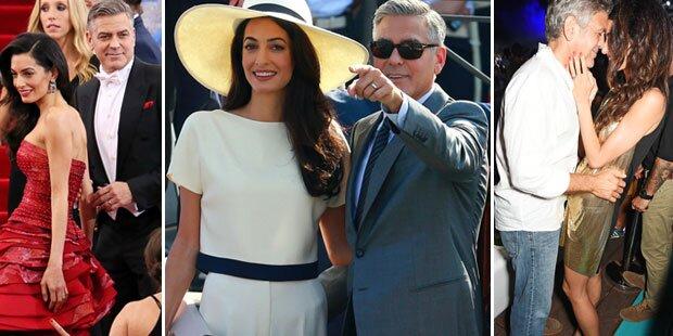 Clooney & Amal: 1. Hochzeitstag