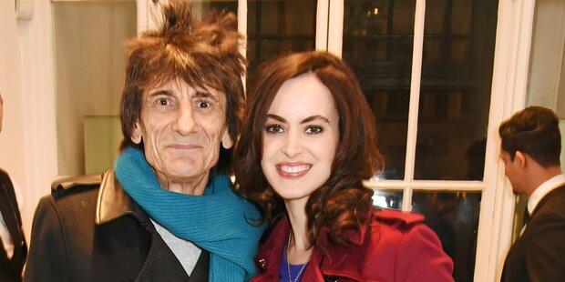 Ron Wood wird mit 68 Jahren wieder Vater