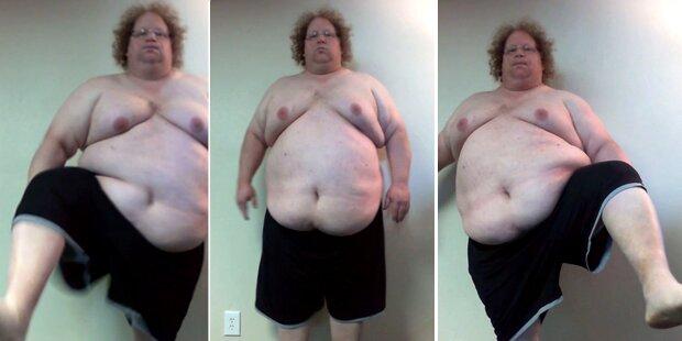 Er hob sein Bein und verlor 136 Kilo