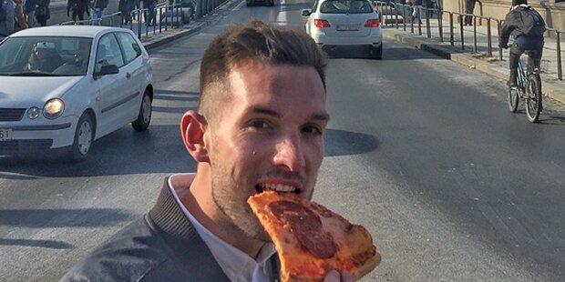 Dieser Typ reist mit Pizza um die Welt