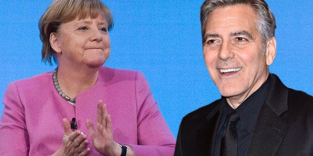 George Clooney lobt Angela Merkel