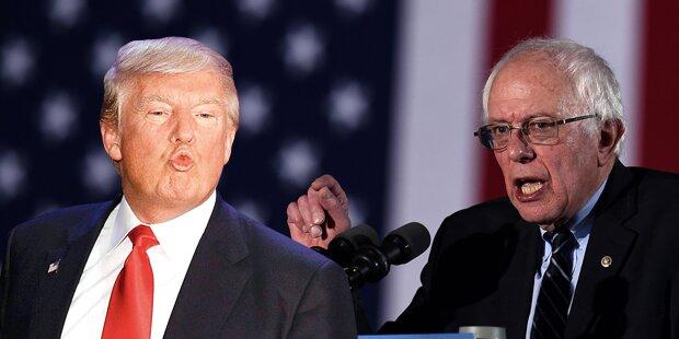 US-Wahl: Trump und Sanders im Aufwind
