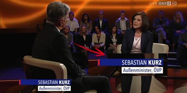 ORF macht Kanzler Faymann zu Sebastian Kurz