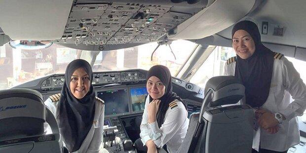 Frauen dürfen fliegen, aber nicht fahren