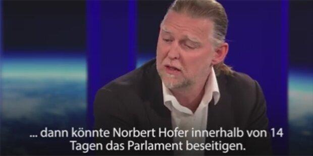 Star-Jurist warnt vor Norbert Hofer