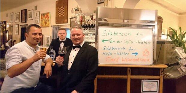 Wiener Café trennt Hofer-Fans von VdB-Wählern