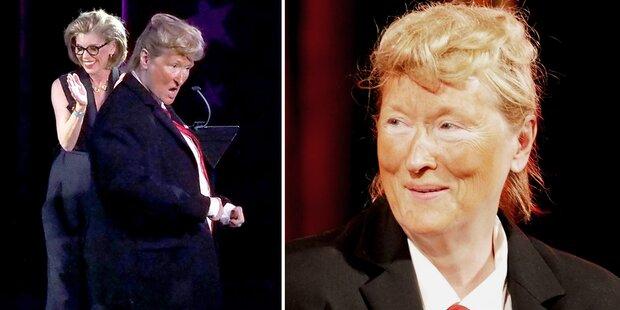 Meryl Streep imitierte Donald Trump