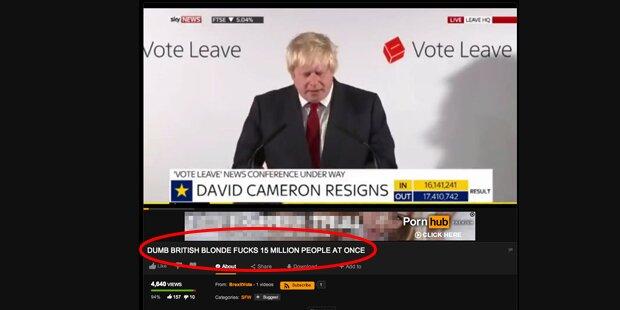 Wut-Wähler stellt Boris Johnson auf Pornoseite