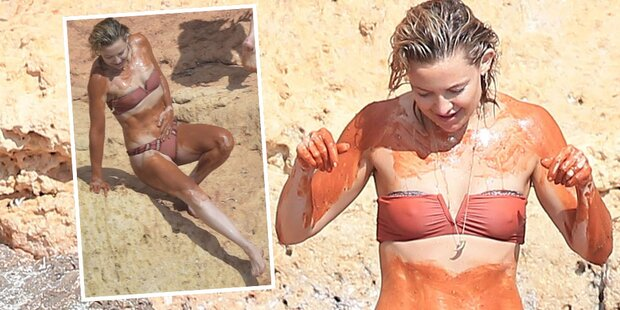 Kate Hudson gönnt sich ein Schlammbad