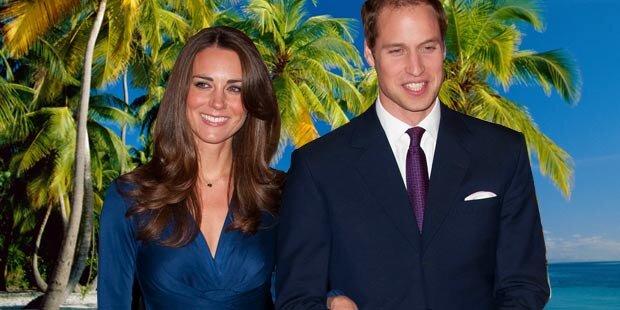 William und Kate sind auf Hochzeitsreise