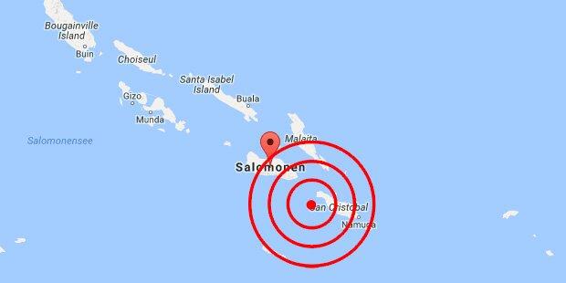 Erneut starkes Erdbeben nahe Salomonen
