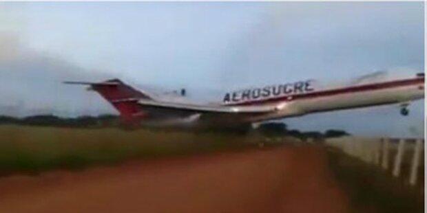 Spektakuläres Video zeigt Flugzeug-Crash