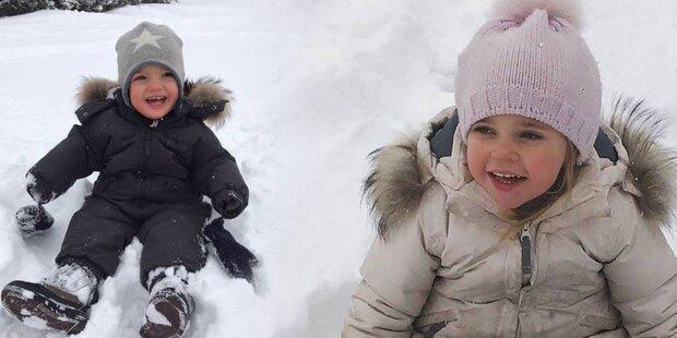 Madeleines Kinder: So herzig im Schnee