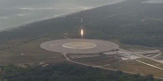 Irres Video zeigt Landung einer SpaceX-Rakete