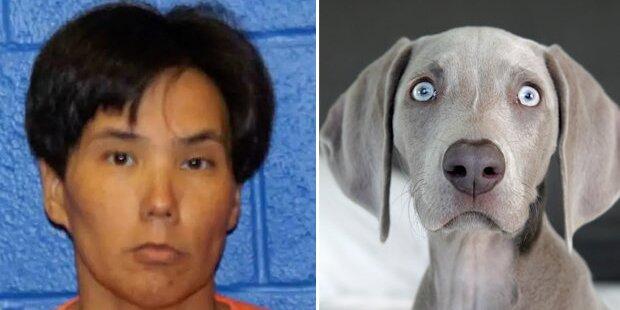 Frau hatte Oral-Sex mit einem Hund