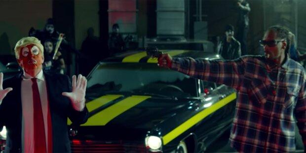 Snoop Dogg richtet Pistole auf Trump