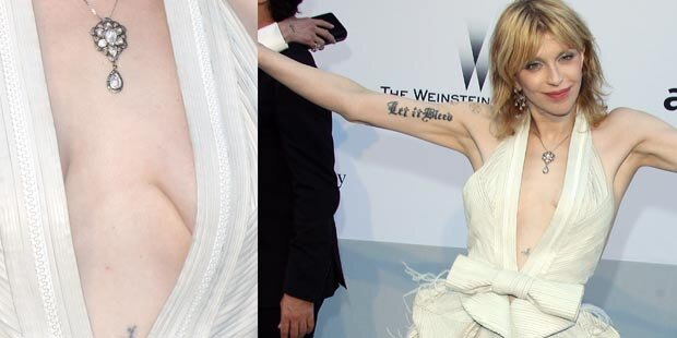 Courtney Love zeigt ihr Grusel-Dekolleté