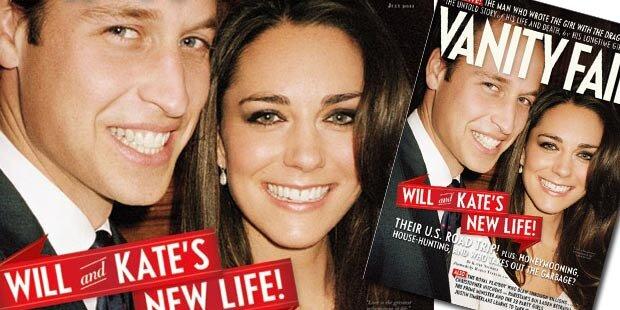 William & Kate am Cover von Vanity Fair