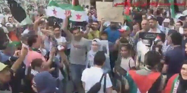 Eklat bei Palästinenser-Demo in Wien