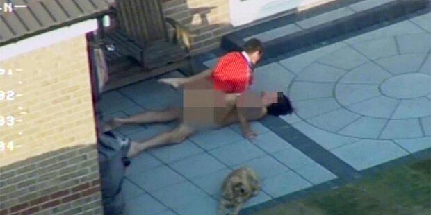 Polizist filmt Pärchen beim Outdoor-Sex