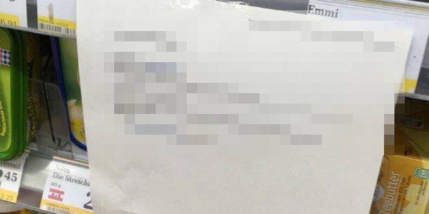 Billa-Angestellter bringt Aushang an – und wird zum Gespött im Netz