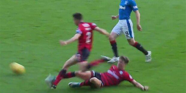 Schotte grätscht eigenen Mitspieler um